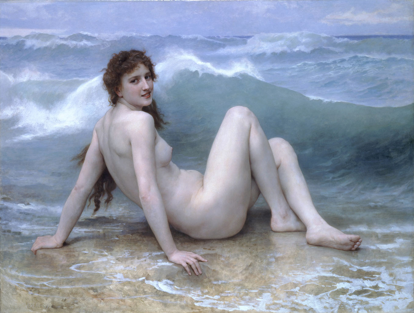 "Вильям Адольф Бугро (William Adolphe Bouguereau) ""The Wave (La Vague)"""