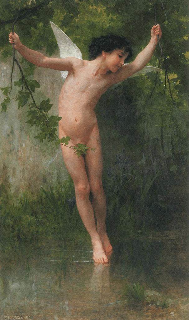 "Вильям Адольф Бугро (William Adolphe Bouguereau) ""Cupid flying over water"""