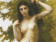 "Вильям Адольф Бугро (William Adolphe Bouguereau) ""Latin beauty (Beaute romane)"""