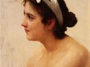 "Вильям Адольф Бугро (William Adolphe Bouguereau) ""Etude pour Offrande a l'amour"""