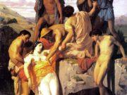 "Вильям Адольф Бугро (William Adolphe Bouguereau) ""Zenobia found by Sheperds on the banks of the Araxes"""