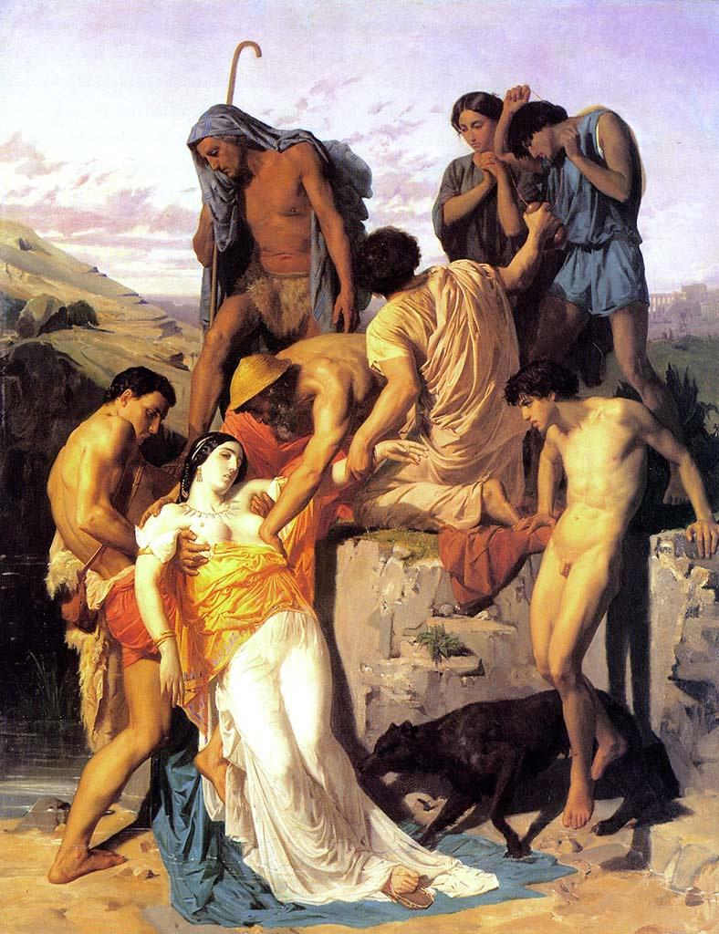 "Вильям Адольф Бугро (William Adolphe Bouguereau) ""Zenobia found by Sheperds on the banks of the Araxes"""