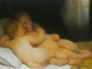 "Вильям Адольф Бугро (William Adolphe Bouguereau) ""Children Sleeping (Enfants endormis)"""
