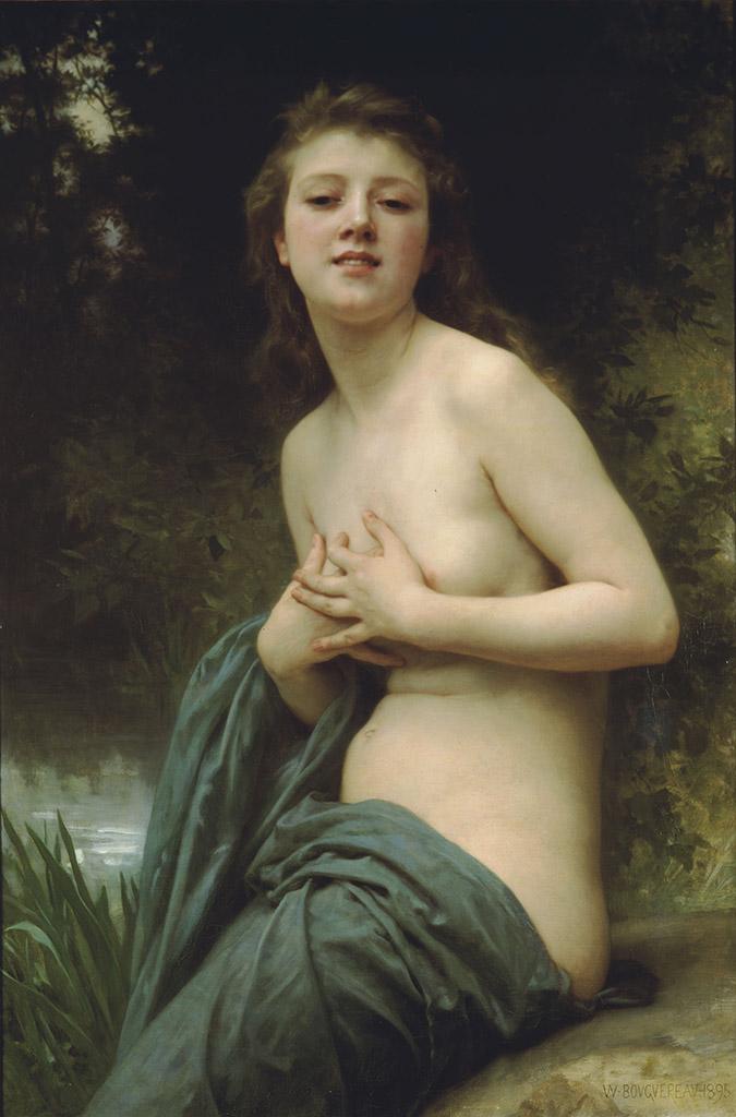 "Вильям Адольф Бугро (William Adolphe Bouguereau) ""Spring breeze"""