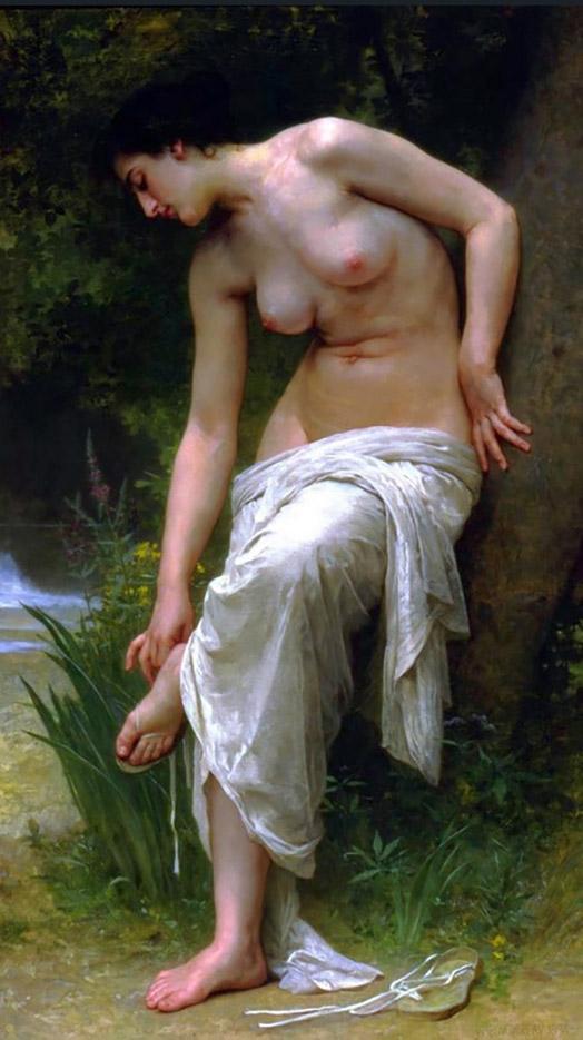 """Вильям Адольф Бугро (William Adolphe Bouguereau) """"After the Bath (2)"""""""