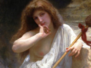 "Вильям Адольф Бугро (William Adolphe Bouguereau) ""Bacchante (Malice)"""