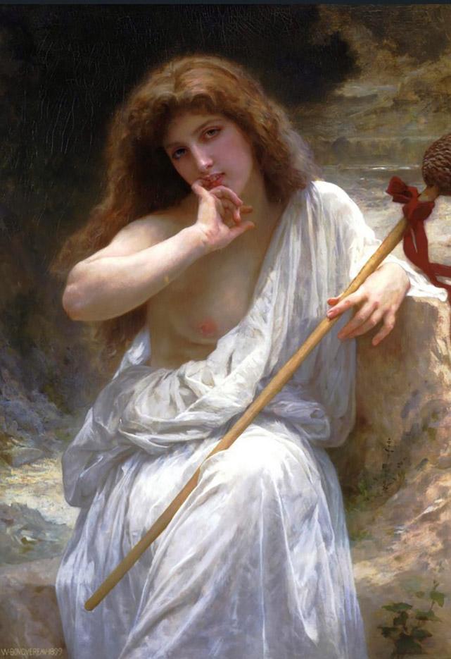 "Вильям Адольф Бугро (William Adolphe Bouguereau) ""Bacchante (Malice)"""