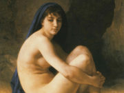 "Вильям Адольф Бугро (William Adolphe Bouguereau) ""Seated Nude (Baigneuse accroupie)"""