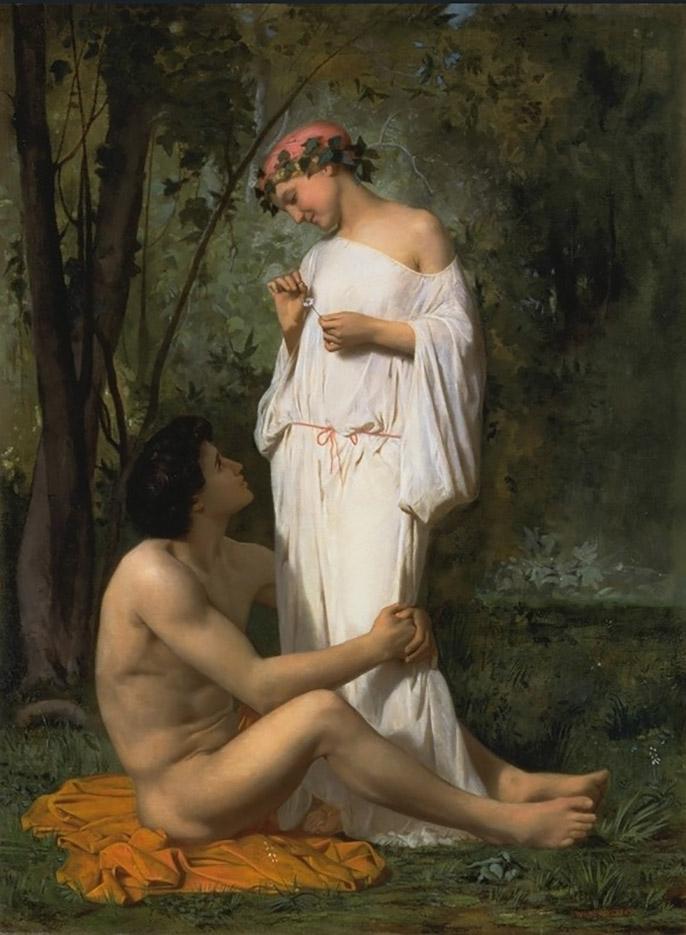 "Вильям Адольф Бугро (William Adolphe Bouguereau) ""Idylle"""