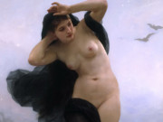 "Вильям Адольф Бугро (William Adolphe Bouguereau) ""Night (La Nuit)"""