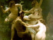 "Вильям Адольф Бугро (William Adolphe Bouguereau) ""Нимфы и Сатир 