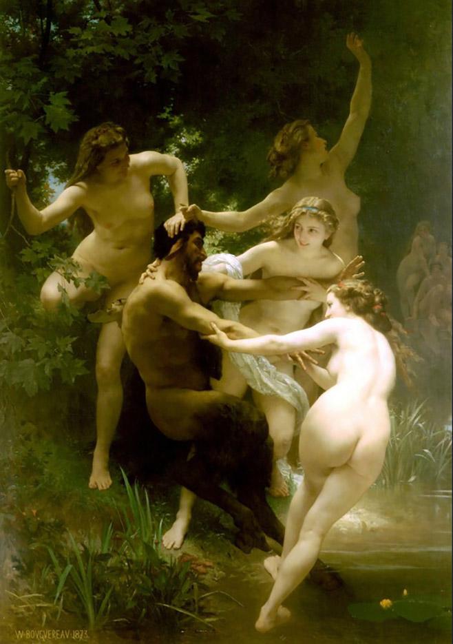 "Вильям Адольф Бугро (William Adolphe Bouguereau) ""Нимфы и Сатир | Nymphs and Satyr"""