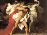 "Вильям Адольф Бугро (William Adolphe Bouguereau) ""Orestes Pursued by the Furies"""