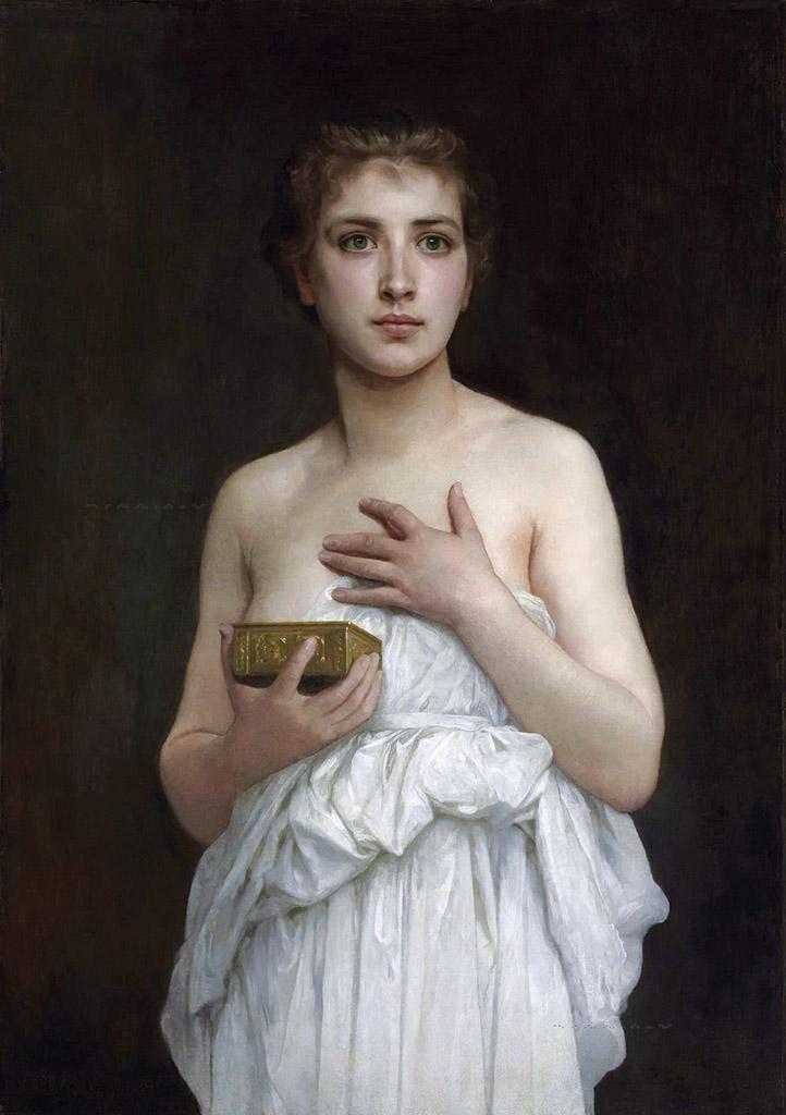 "Вильям Адольф Бугро (William Adolphe Bouguereau) ""Пандора | Pandora """