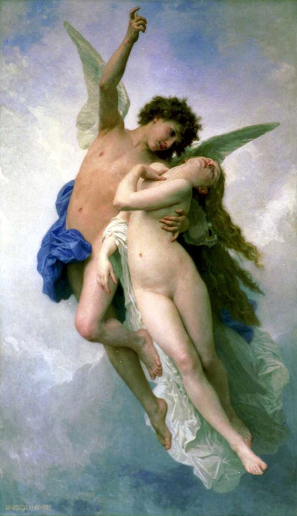 "Вильям Адольф Бугро (William Adolphe Bouguereau) ""Амур и Психея | Psyche and Amour"""