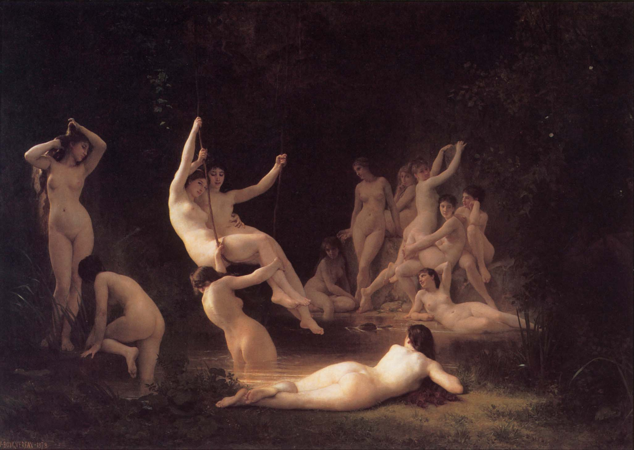 "Вильям Адольф Бугро (William Adolphe Bouguereau) ""Нимфеум | The Nymphaeum"""