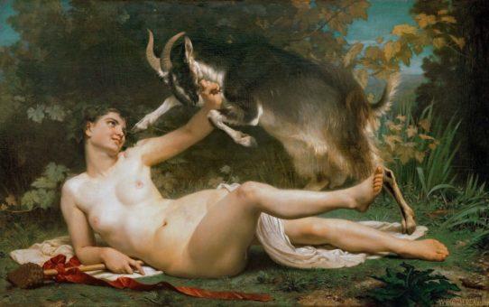 "Вильям Адольф Бугро (William Adolphe Bouguereau) ""Вакханка   Bacchante"""