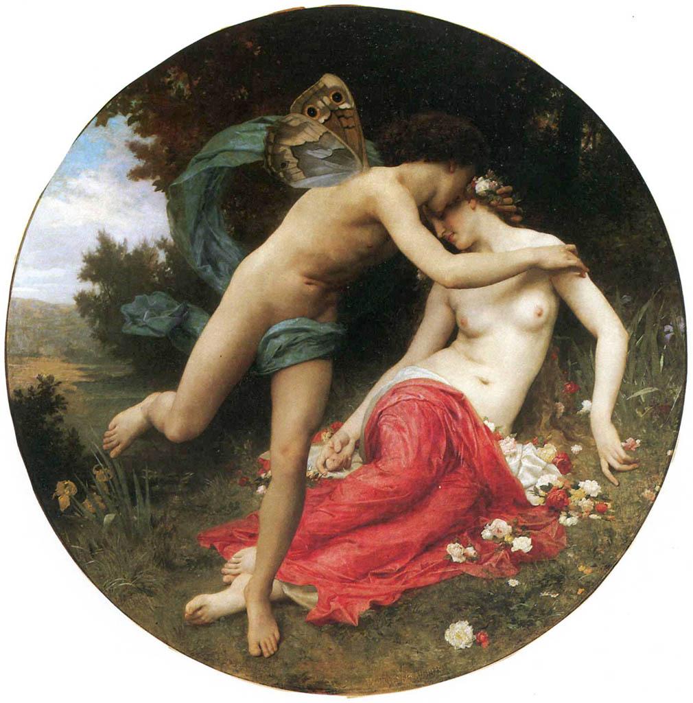 "Вильям Адольф Бугро (William Adolphe Bouguereau) ""Flora and Zephyr"""