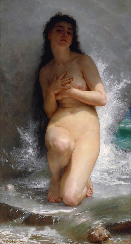 "Вильям Адольф Бугро (William Adolphe Bouguereau) ""Жемчужина | Pearl"""