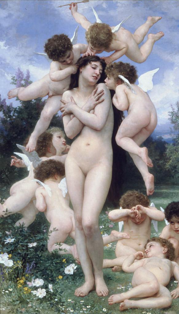"Вильям Адольф Бугро (William Adolphe Bouguereau) ""The Return of Spring"""