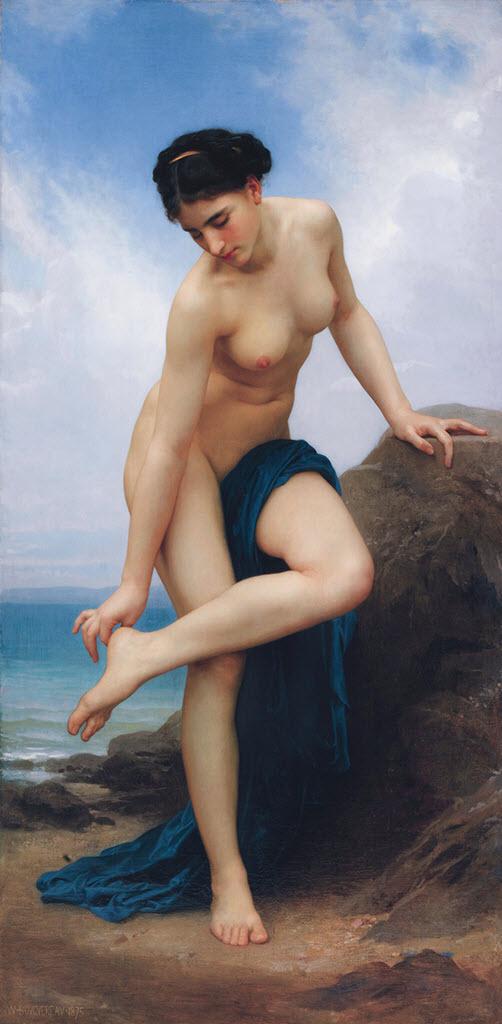 """Вильям Адольф Бугро (William Adolphe Bouguereau) """"After the Bath"""""""