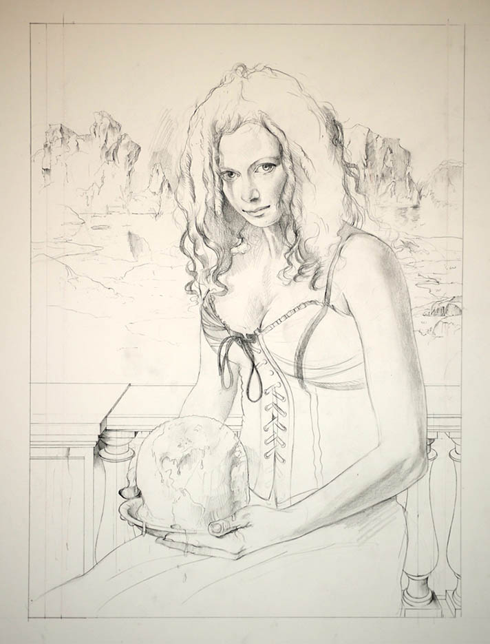 """Дэвид Бауэрс (David Bowers) """"Drawing for The Ice Princess"""""""