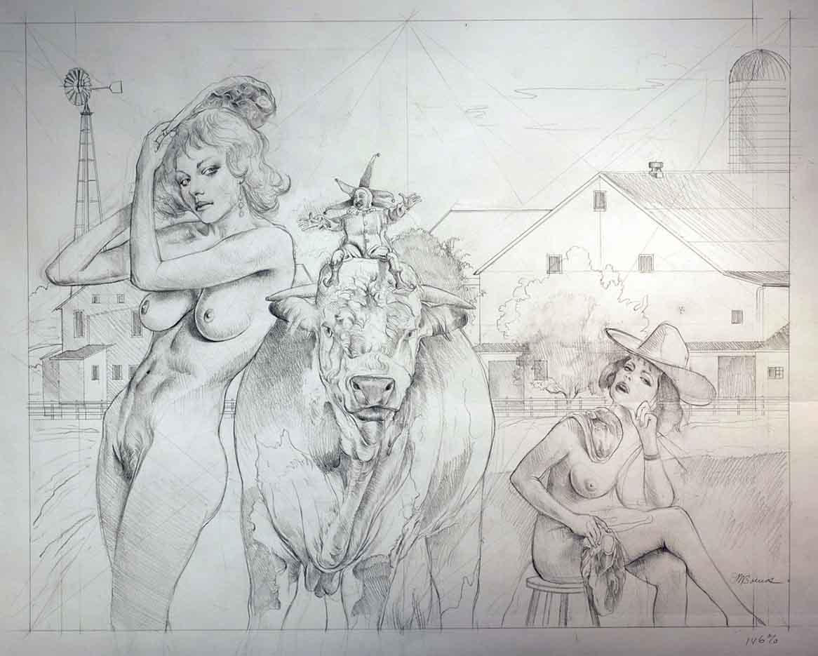 """Дэвид Бауэрс (David Bowers) """"Drawing for USDA"""""""