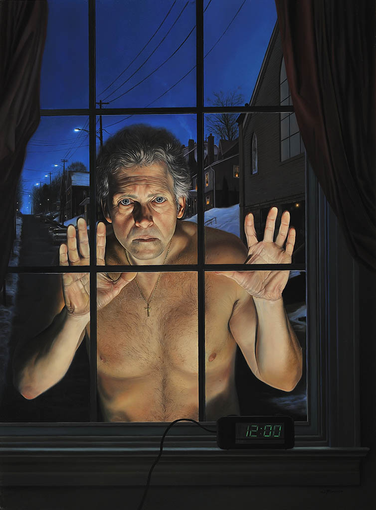 "Дэвид Бауэрс (David Bowers) ""The Observer (self portrait)"""