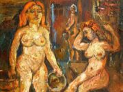 "Давид Бурлюк (David Burliuk) ""Two Women in the Sauna"""