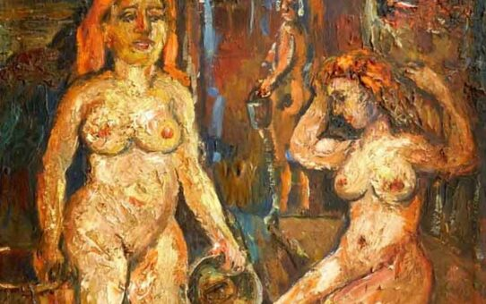 "Давид Бурлюк (David Burliuk) ""Two Women in the Sauna"""