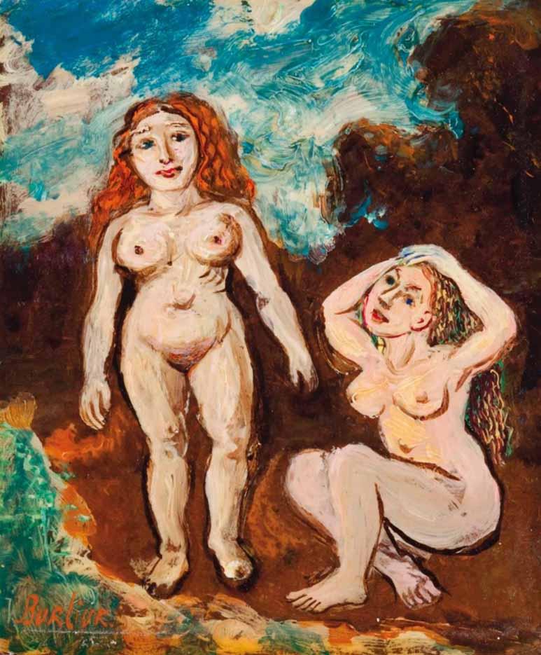 "Давид Бурлюк (David Burliuk) ""Две обнаженные женщины | Two naked women"""