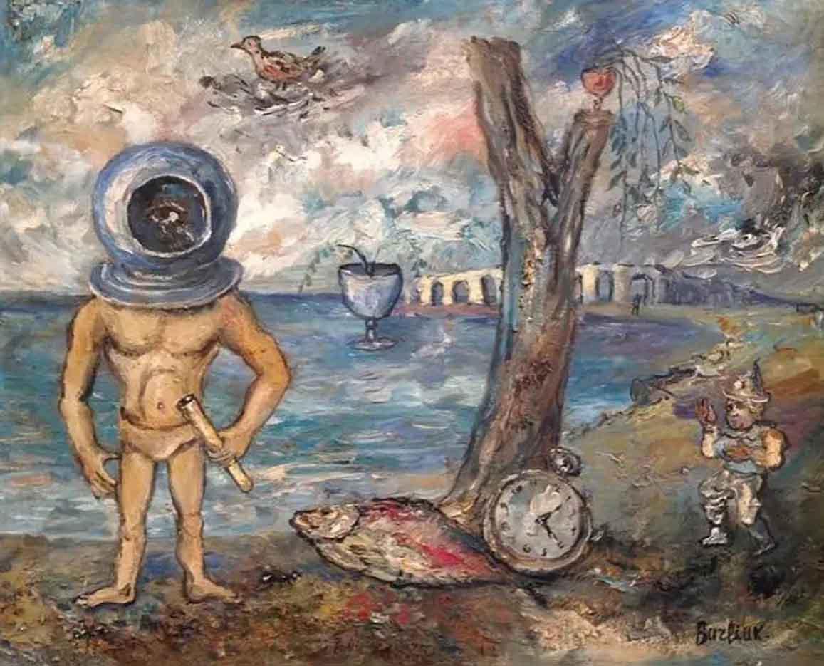"Давид Бурлюк (David Burliuk) ""Водолаз | Diver"""
