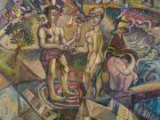 "Давид Бурлюк (David Burliuk) ""Cubo-futurist composition"""