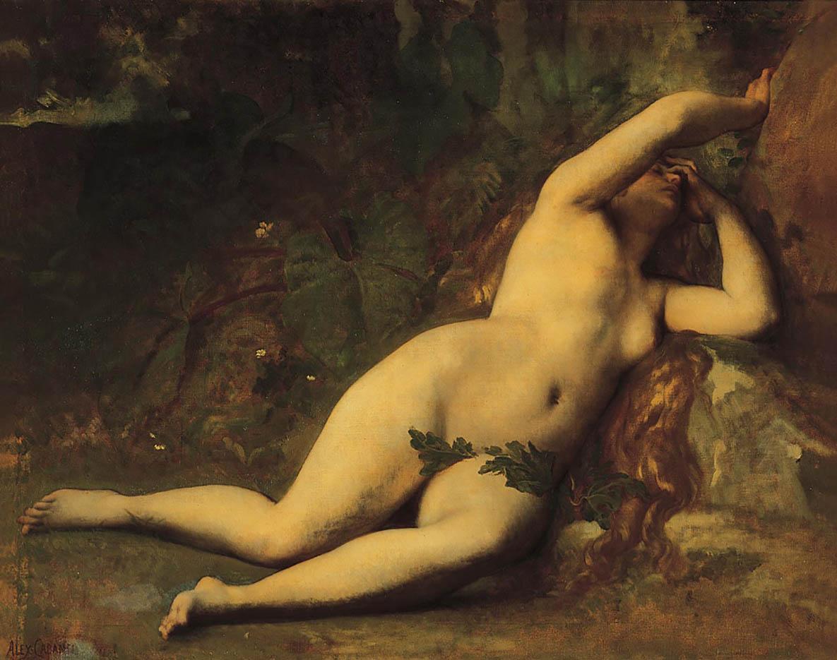 "Александр Кабанель (Alexandre Cabanel) ""Eve apres la chute"""