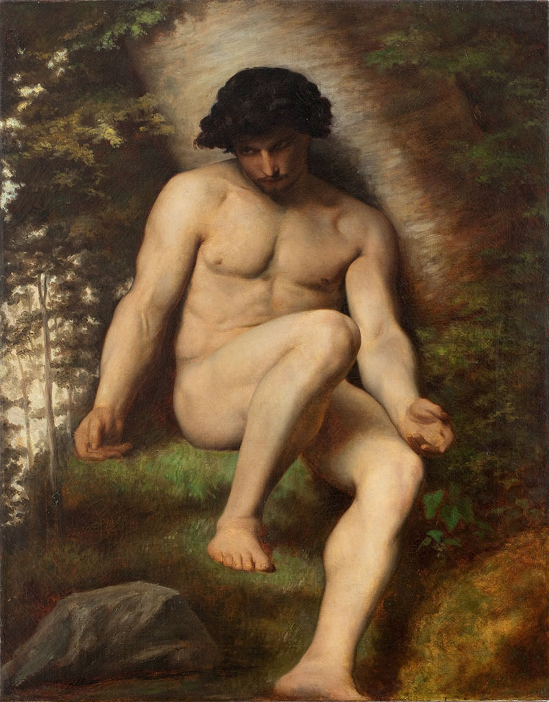 "Александр Кабанель (Alexandre Cabanel) ""Adam (etude pour le paradis perdu)"""
