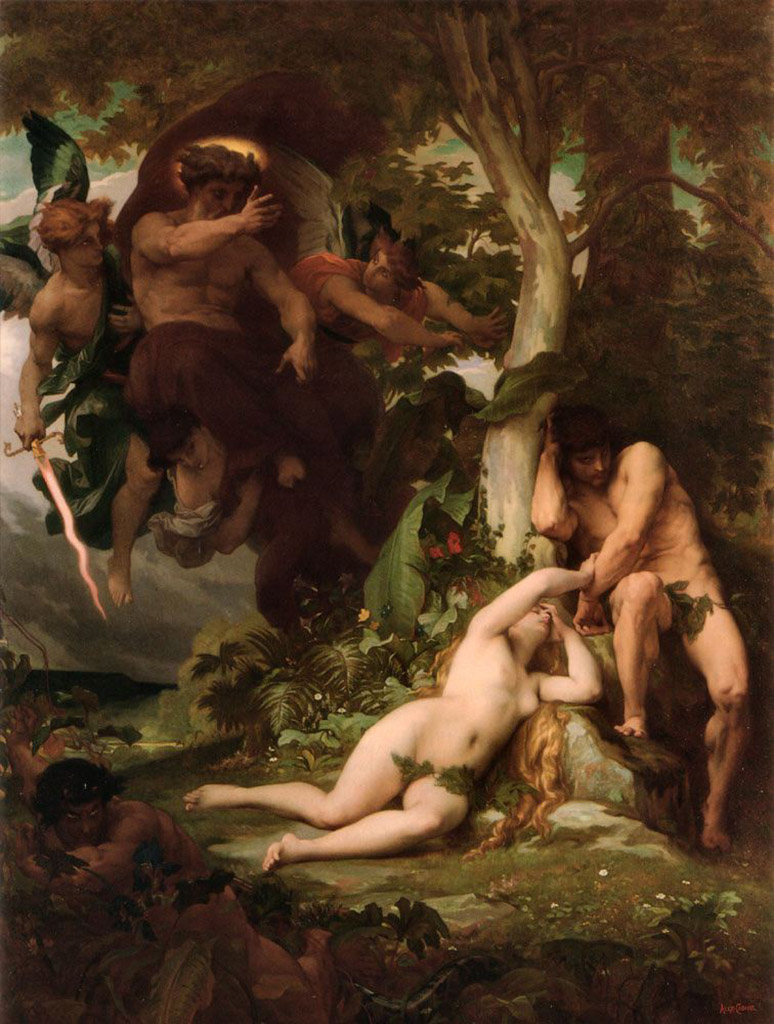 "Александр Кабанель (Alexandre Cabanel) ""The Expulsion of Adam and Eve from the Garden of Paradise"""