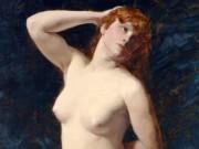 "Каролюс-Дюран (Carolus-Duran) ""Sitting Nude"""