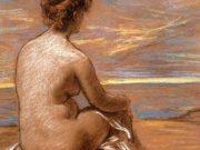 "Каролюс-Дюран (Carolus-Duran) ""Une femme nue assise vue de dos regardant la mer"""