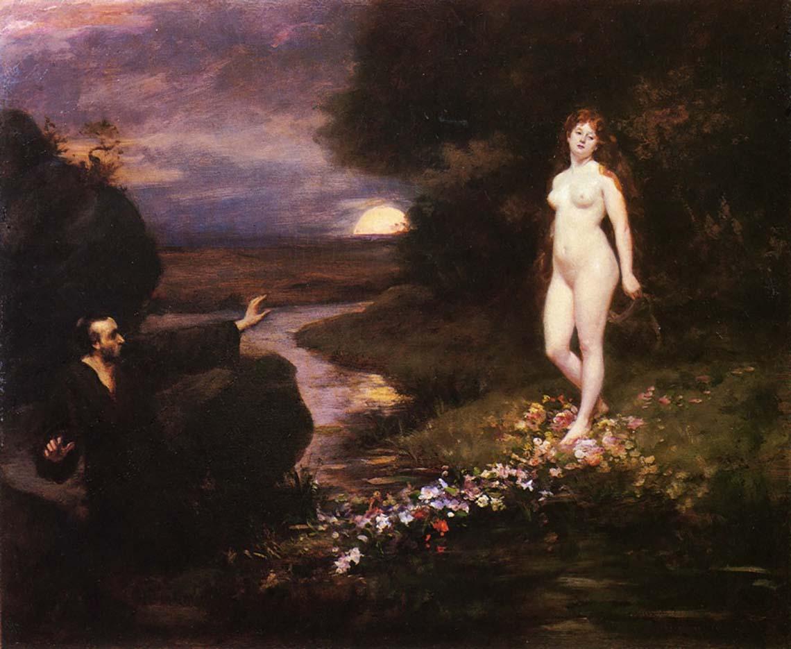 "Каролюс-Дюран (Carolus-Duran) ""The Vision of Saint Catherine"""