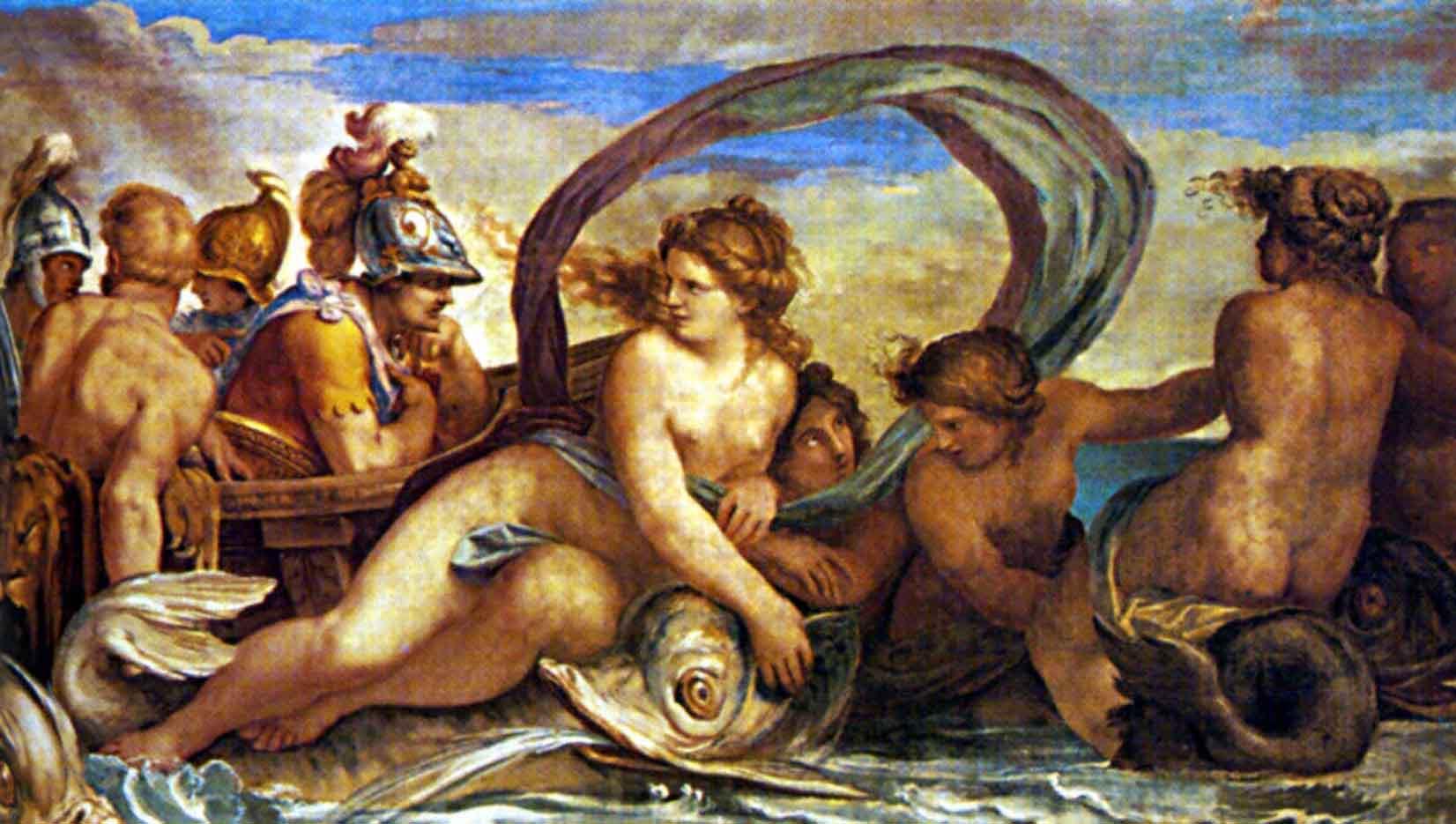 """Агостино Карраччи (Agostino Carracci) """"Thetis and Peleus"""""""