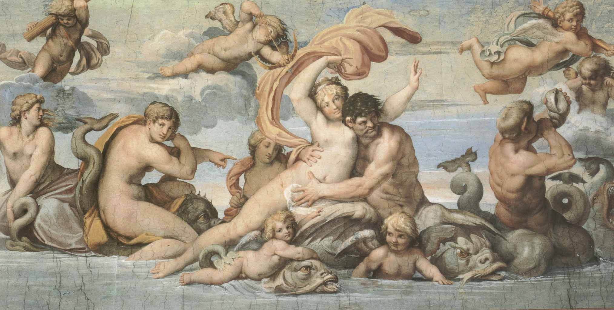"Агостино Карраччи (Agostino Carracci) ""Glaucus and Scylla"""