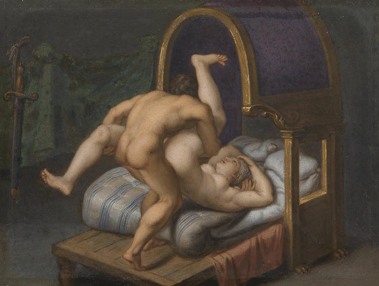 "Агостино Карраччи (Agostino Carracci) ""Nuditet med mand og kvinde - 2"""