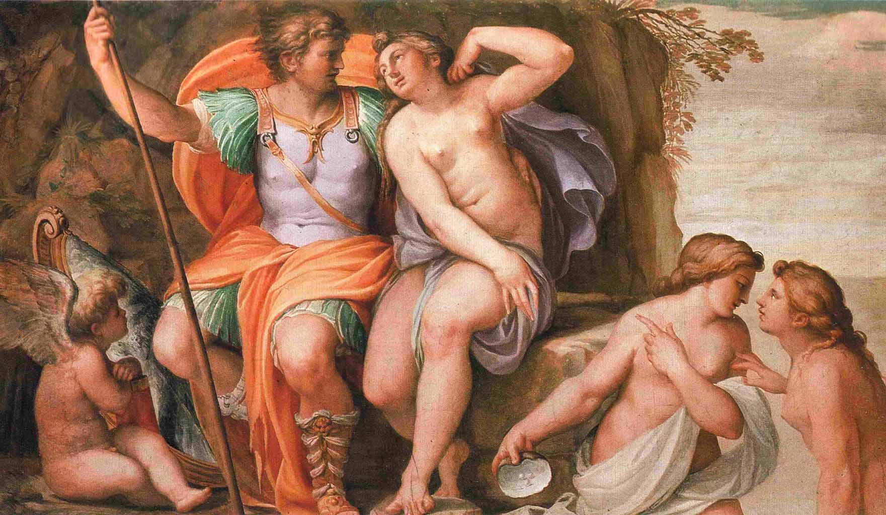 "Агостино Карраччи (Agostino Carracci) ""Venus and Mars"""