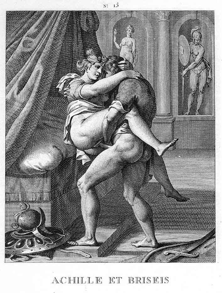 "Агостино Карраччи (Agostino Carracci) (Engraves) ""Ахилл и Брисеида | Achille et Briseis"""