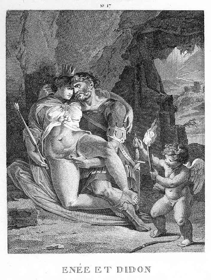 "Агостино Карраччи (Agostino Carracci) (Engraves) ""Эней и Дидона 