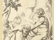 "Агостино Карраччи (Agostino Carracci) (Engraves) ""Ninfa satiretto e putto"""
