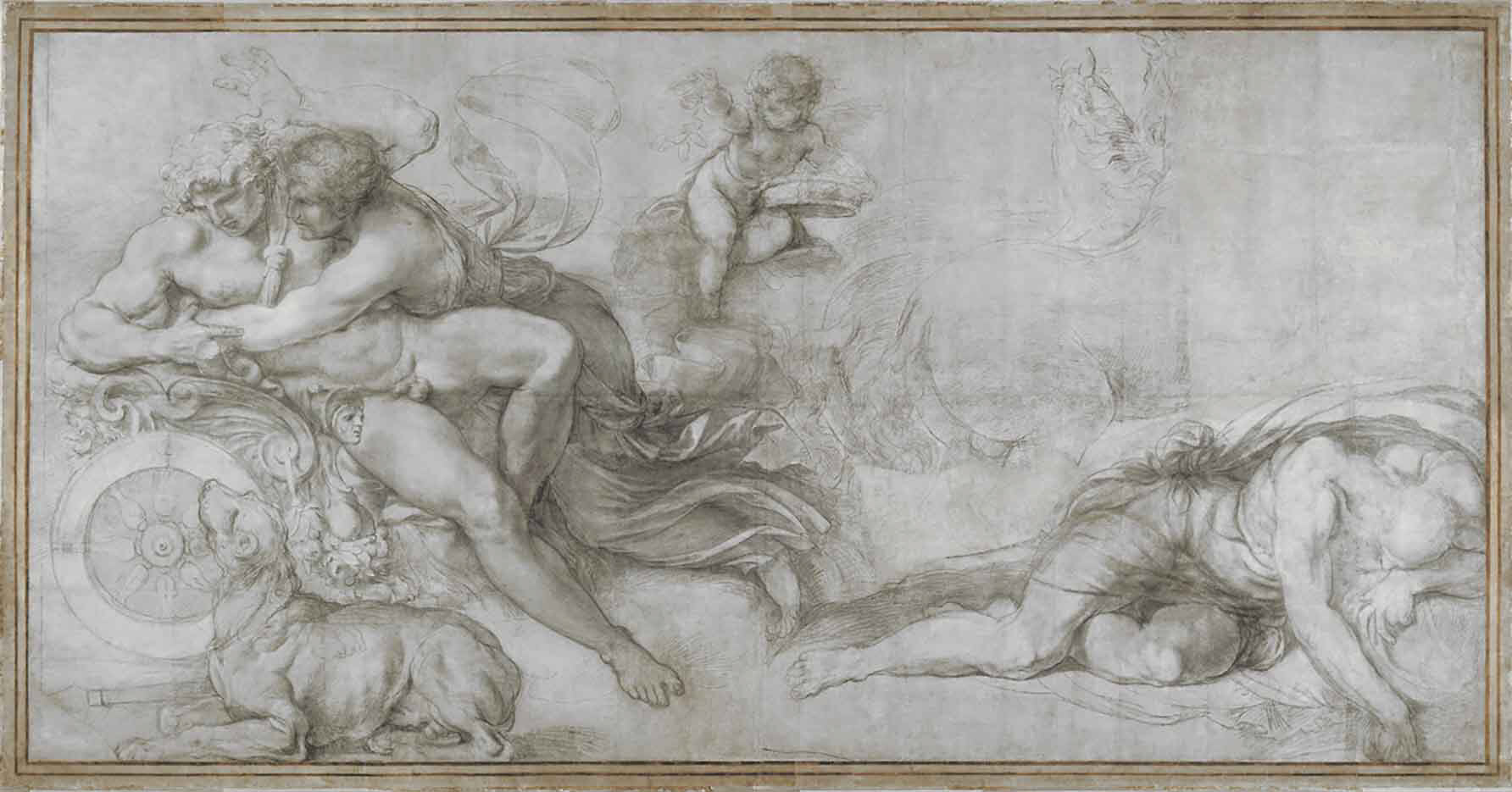 "Агостино Карраччи (Agostino Carracci) (Engraves) ""Aurora and Cephalus"""