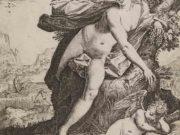 "Агостино Карраччи (Agostino Carracci) (Engraves) ""Sine Cerere et Baccho Friget Venus"""