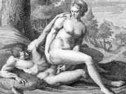 "Агостино Карраччи (Agostino Carracci) (Engraves) ""Анжелика и Медор | Angelique et Medor"""