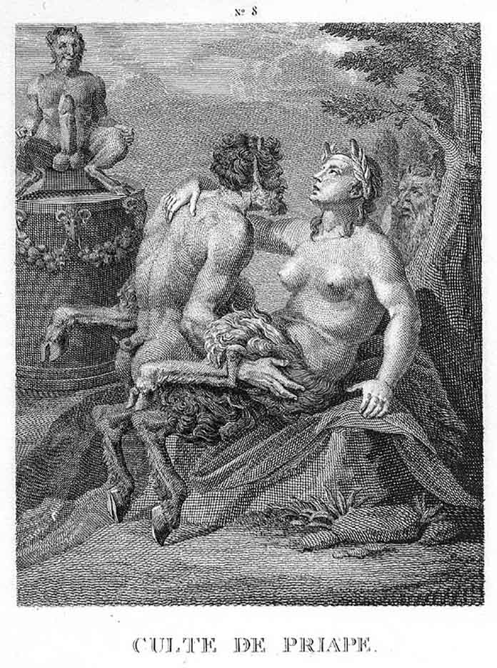 "Агостино Карраччи (Agostino Carracci) (Engraves) ""Культ Приапа | Culte de Priape"""